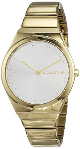 Lacoste Womens Analogue Classic Quartz Watch with Gold Plated Strap 2001056