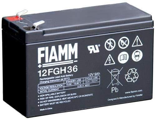 Fiamm Batteria Serie FGH 12V Alimentazione di emergenza UPS Collegamento Faston 187 piatta di 4,8 mm (12FGH36 Amperaggio 9 Ah)