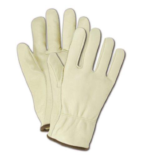 Magid b540e Roadmaster ungefüttert genarbtem Leder Treiber Handschuh mit Direkt Daumen, Arbeit, mittelgroß, Hellbraun (One Dutzend) Leder Fahrer Handschuhe Braun
