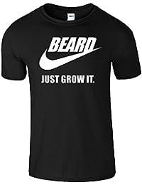 BEARD JUST GROW IT Herren-Hemd Lustiges Slogan-T-Shirt