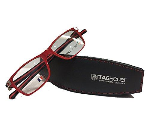 Preisvergleich Produktbild TAG Heuer Herren Brillengestell Rot Schwarz