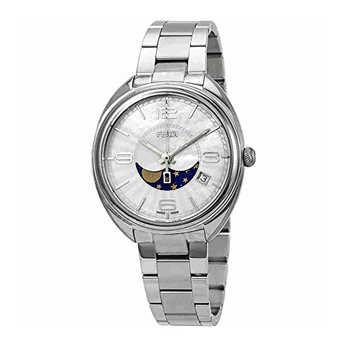 Fendi Momento Moonphase Mother of Pearl Dial Ladies Watch F232034500