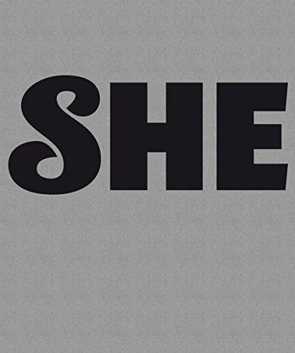 ::: HE & SHE ::: Pärchen T-Shirt Sports Grey mit schwarzem Aufdruck SHE