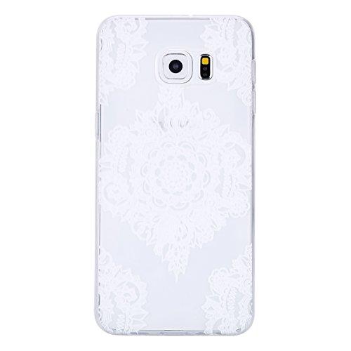 Galaxy S6 Edge Plus Soft Silicone Tpu Coque Mode,Transparent Coque pour Samsung Galaxy S6 Edge Plus,Ekakashop Ultra Mince Jolie Balle Violet Design Souple imprimée Etui Housse de protection Cristal Cl Quatre Fleurs