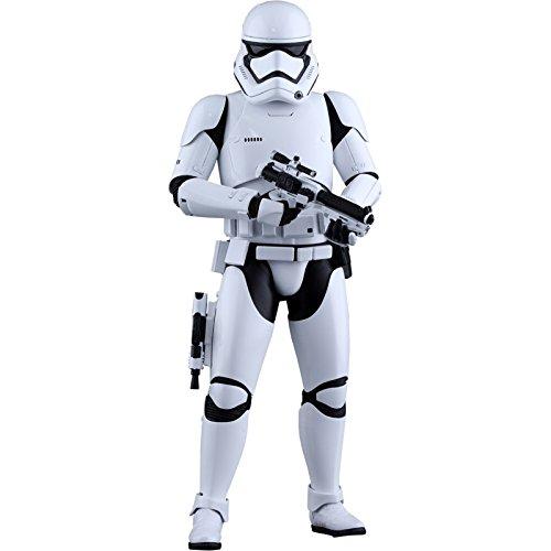 Hot Toys HT902536 Figura di Stormtrooper: Star Wars- The Force First Order, Scala 1:6, Bianco e Nero