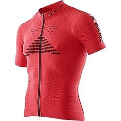 X-Bionic Effektor Biking Powershirt S/S, color rojo, talla L