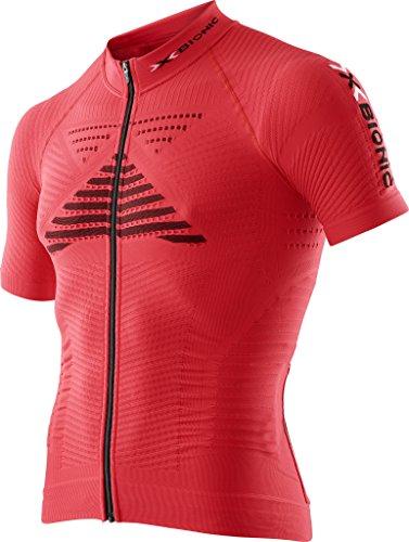 X Bionic Effektor Power OW Sh_SL. Full Zip, Maglia Bicicletta Uomo, Rosso Flash/Nero, L