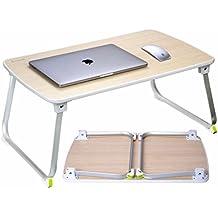 Salcar Ordinateur Table Portable, Ordinateur Table basse pliable, Table légère pour bureau à domicile, 70 * 50 * 32,5 cm, bois