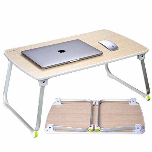 Salcar Stabiler Laptop Betttisch 70*50cm verstellbarer Lapdesk, tragbarer Laptop-Tisch, Laptopständer für Frühstücks, Notebook, Bücher, Minitable, Bett Tablett - - Für Computer-tastatur Tisch