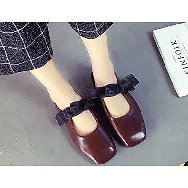 LvYuan Damen-Sandalen-Lässig Kleid-PU-Niedriger Absatz-Komfort-Schwarz Braun Weiß Black