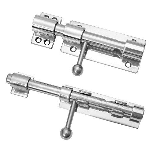 Preisvergleich Produktbild MB733 - Massiver Edelstahl Bolzenriegel Riegel Türriegel Sicherheitsriegel anschweißen anschrauben (anschrauben)