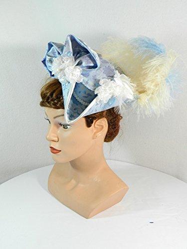 Mini Dreispitz hellblau Fascinator Haarschmuck Kopfschmuck