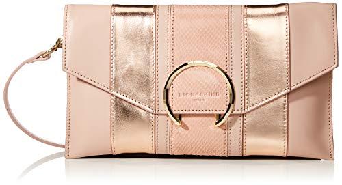 Liebeskind Berlin Damen Valentine Special Fancy Clutch Medium, Pink (Dusty Rose), 2x28x16 cm (Snake-clutch-handtasche)