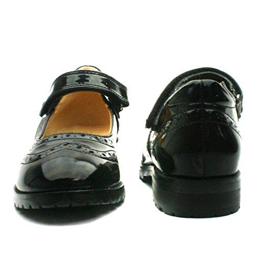 REGINA Step2wo School Shoe Cross Strap for Girls >      > Chaussures de l'école avec bracelet croix pour les filles Black Pat (noir)