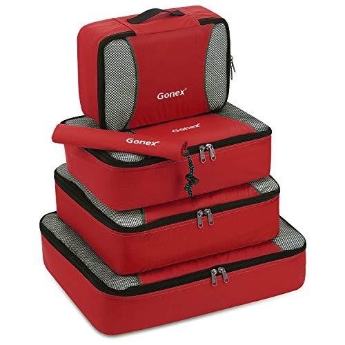 Gonex Organisateurs de bagage Sacs rangement de valise Voyage 5 pcs Rouge