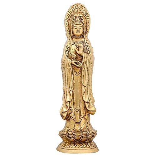 Buddismo Indian Art Tre faccia Sakyamuni Kwan-Yin Bodhisattva Scultura Buddha statue 11.5 pollici