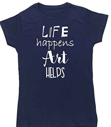 hippowarehouse-life-happens-art-helps-womens-fitted-short-sleeve-t-shirt
