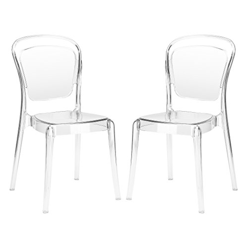 Poly and Bark Lucent Dining Side Chair (Set of 2), Clear