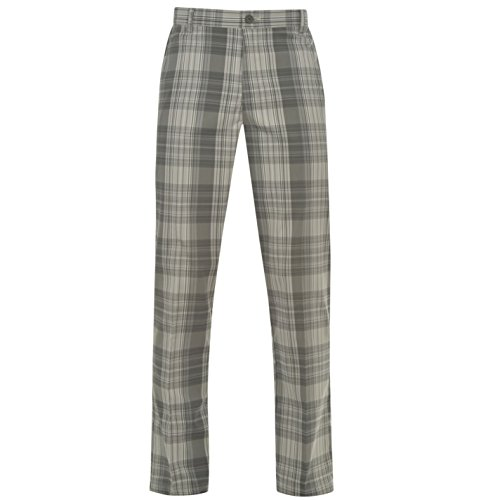 slazenger-mens-checked-golf-trousers-pants-bottoms-rubberised-lining-to-waist-charcoal-34w-r