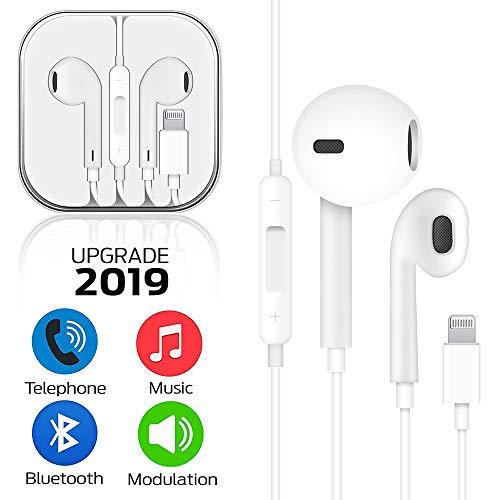 Auricolari, Cuffie con cancellazione del Rumore, Auricolare in-Ear Bassi Potenti Alta Definizione con Microfono e Controller per iPhone 7/7Plus/8/8 Plus/X/iPhone XS/XS Max/XR