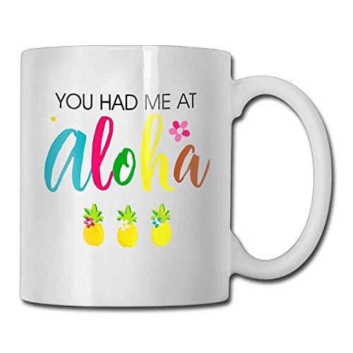 Inspirational Funny Quotes Mug With Sayings For Men Women - Aloha Hawaii Hawaiian Honeymoon Pineapple Destination - Gift Idea Coffee Mug Tea Cup Ceramic White 11 OZ