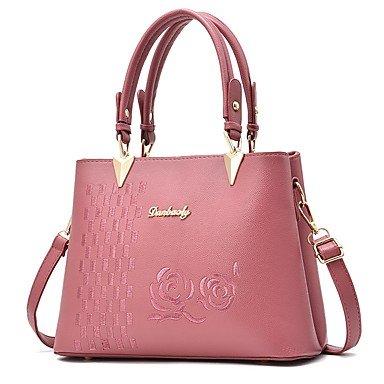 Damenmode PU Leder Schulter Messenger Crossbody-tasche/Handtasche Tote Blushing Pink