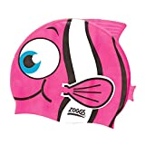 Zoggs Kinder Badekappe Junior Character Silicone Cap, Pink, One Size, 302731