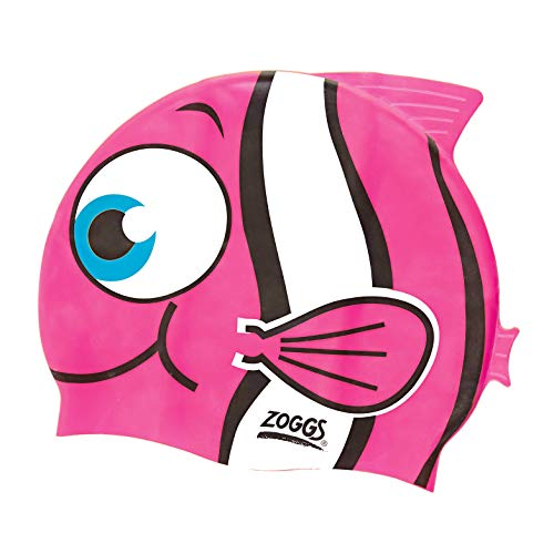 Zoggs Kinder Junior Character Silicone Cap Badekappe Pink One Size