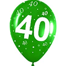 Sempertex - Globos 40 cumpleaños de latex, 10 unidades, multicolor (R12-nº40)
