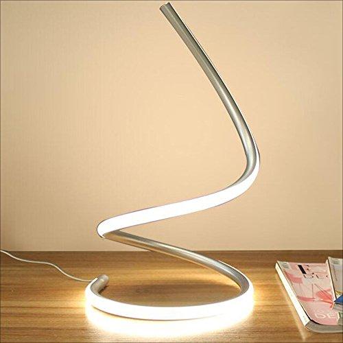 Modeen 40W Lámpara de Mesa LED Espiral lámpara de Escritorio Moderna del LED lámpara de cabecera...
