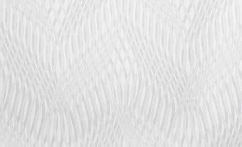 Vliestapete / Strukturtapete mit Streifen / Wellenlinien in Grau, Weiß - mit Glitzer
