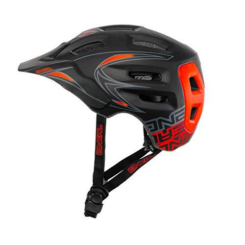 O'Neal Defender Helm MTB Enduro Schwarz Rot Mountain Bike Allround Fahrrad, 0502D-2, Größe S/M (54 - 58 cm)