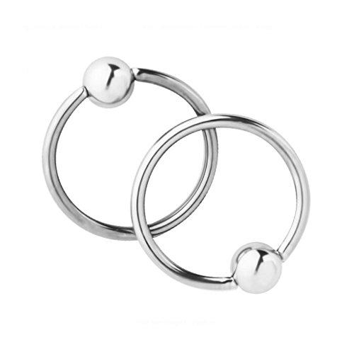 Videoleuchte Schließung von Kugel Ring Ring für Nase Ohr Lippe farbe Geld (Hoop Lippe Ringe)