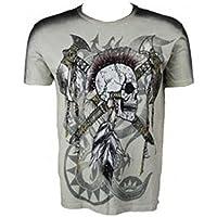 KQTS036 KONQUEST PLATINUM Mens Grateful Heart Print T-Shirt Black Size 38 Medium