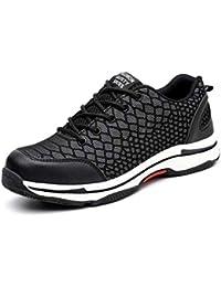 H-Mastery Femme Homme Sécurité Chaussures de Travail Réfléchissantes avec Embout de Protection en Acier et Semelle de Protection