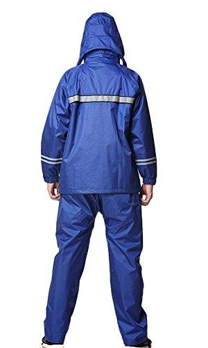 Icegrey Donna e Uomo Giacca Impermeabile e Pantaloni Impostato Impacchettabile Con Strisce Riflettenti Hi Viz Impermeabile Giacca Pantaloni Blau