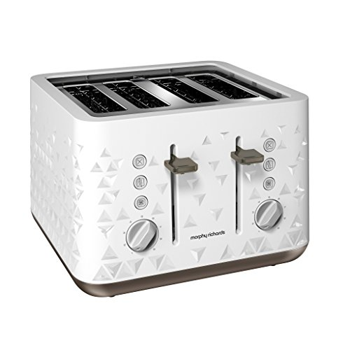 Morphy Richards 248102EE Prism Toaster, weiß
