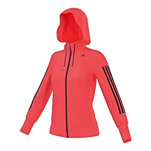 adidas Damen Kapuzenjacke Workout, Rosarot, XXS, AB5561