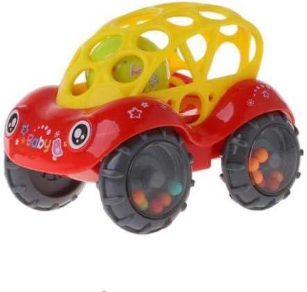 MTSZZF Jouet pour bébé Inertial Minibus Oball Ball Rattle Cars Roll - Rouge | Soyez Bienvenus En Cours D'utilisation