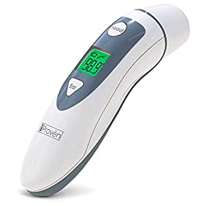 Medical Forehead and Ear Thermometer - the Authentic CE and FDA Approved Professional Clinical Thermometer iProven DMT-489 - Unmatched Performance with Revolutionized Technology (2017)