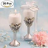 Lote de 20 Velas Elegant Angel - Velas Para Detalles y Recuerdos de 1ª Comunión