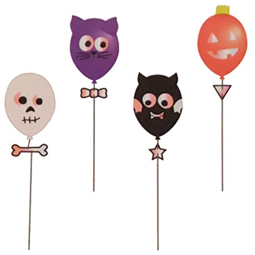 Halloween Ballon Luftballon Character Bastel Kit für Kinder ab 8 Jahre Geist Eule Teufel Kürbis Gesicht