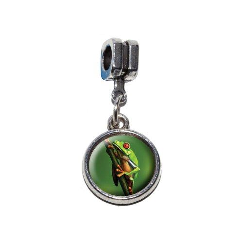 –grün Italienisches europäischen Euro-Stil Armband Charm Bead–für Pandora, Biagi, Troll,, Chamilla,, andere (Baum Frosch Kostüme)