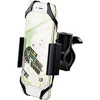 Ipow® Universal Fahrrad Handyhalterung mit Metall Sockel Handy Halterung Halter, Stabile Fahrradhalterung für Smartphone wie iphone X/ 8/ 7 Plus/ 6s Plus/ 6/ 5s, Samsung Galaxy Samsung Galaxy S6 / S5 / S4, Samsung Galaxy Note 4 /Note 3/Note 2, HTC One X/M8/X+