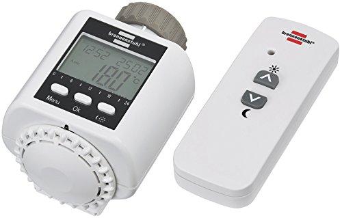 Brennenstuhl Funk-Heizkörperthermostat FHT 433 (Heizungsthermostat per Fernbedienung oder App steuern) weiß