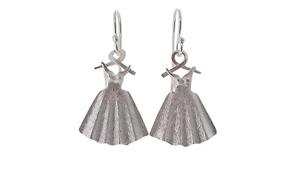 1872ae2cb Touch Jewellery 925 Sterling Silver Dress on Hanger Drop Earrings: Amazon.co .uk: Jewellery