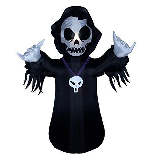 Aufblasbar Skelett Geist Riese Halloween Sichel Dekoration Zum Party Garten Draussen Innen Mit LED