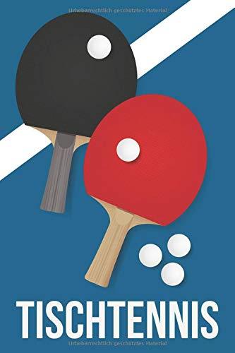 Tischtennis: Liniertes Notizbuch für alle Notizen, Termine, Skizzen, Zeichnungen oder Tagebuch ; breites Linienraster; Motiv: Tischtennisschläger por Kreative Notizbücher