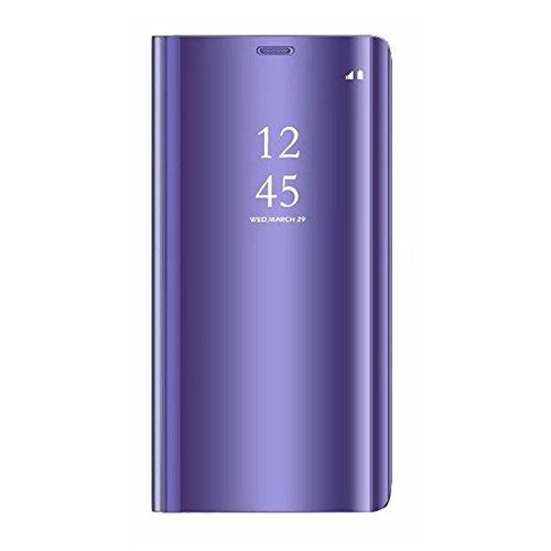 """Funda Samsung Galaxy Note 9 Teléfono Caso Espejo Alta Calidad Protección Plástico Duro Cover Ultra Delgado Anti-Rasguños 2 en 1Carcasa para Samsung Note 9 (Samsung Galaxy Note 9 6.4"""", C-Uva morada)"""