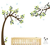Custom wall stickers by BDECOLL,Three Koalas tree Branches Wall Decal Wall Sticker Baby Nursery Decor Kids Room